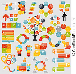 Mega Collection of Flat Infographic Templates for Business...