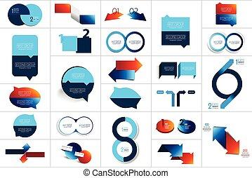 mega, design., 輪, 步驟, 集合, 圖表, scheme., 二, 圖形, 環繞, 元素
