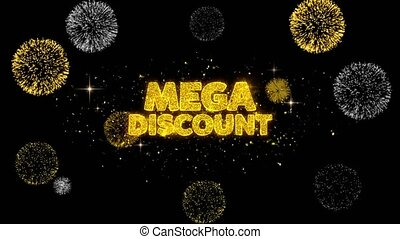 Mega Discount Golden Text Blinking Particles with Golden...