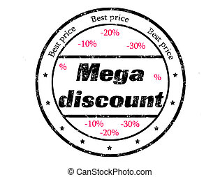 mega discount - grunge rubber stamp with text best price