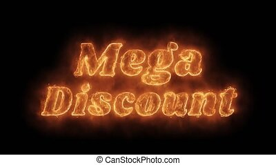 Mega Discount Word Hot Animated Burning Realistic Fire Flame...