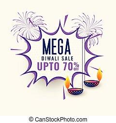 mega diwali sale banner template design