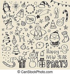Mega Doodle Design Elements Vector Set