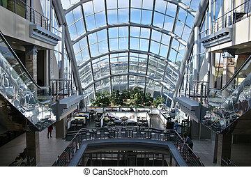 mega, einkaufszentrum, fenster