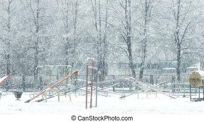 Mega extra big global snowfall loop on playground - Mega...