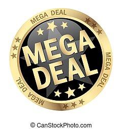 mega, knap, deal