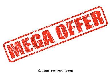 MEGA OFFER red stamp text