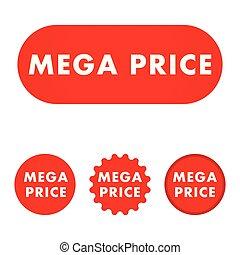 Mega price button