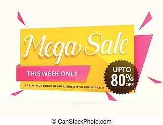 mega sale banner design for promotion