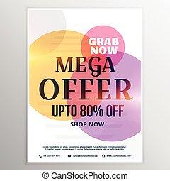 mega sale discount voucher design template