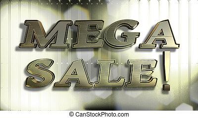 Mega Sale Gold 3D Text