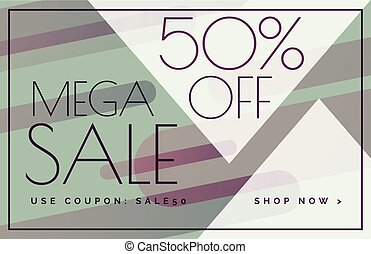mega sale offer discount banner voucher template design