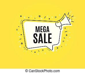 Mega Sale. Special offer price sign. Vector