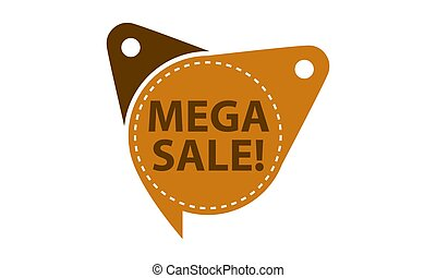 Mega Sale Tag Template Isolated