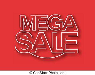 Mega Sale Text Design Element.