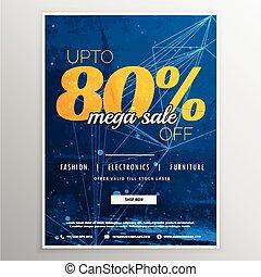 mega sale voucher banner template vector design with offer details