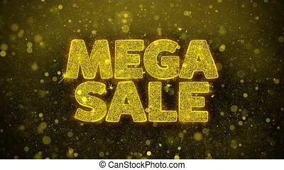 Mega Sale Wishes Greetings card, Invitation, Celebration Firework