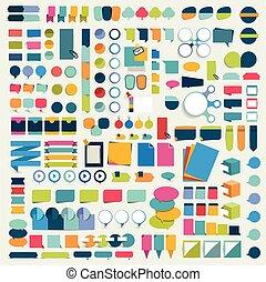 Mega set infographics flat design elements, schemes, charts,...