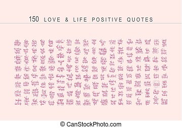 mega set of 150 positive quotes design, handwritten lettering