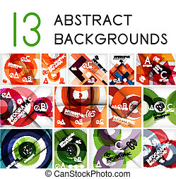 Mega set of circle geometric backgrounds