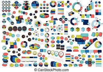 Mega set of infographic elements charts, graphs, circle...
