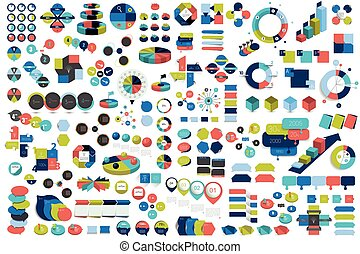 Mega set of infographic elements charts, graphs, circle...