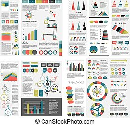 Mega set of infographics elements charts, graphs, circle...