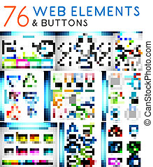 Mega set of vector web elements
