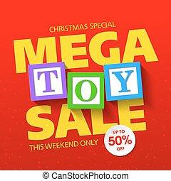Mega toy sale banner
