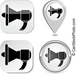 megafone, ícone