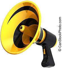 megafone, alto-falante, bullhorn