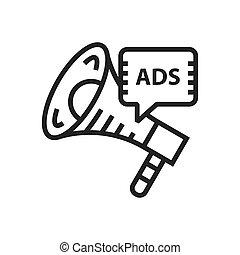 megafone, anúncio, ícone