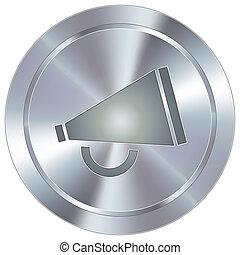 megafone, botão, industrial