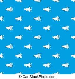 megafone, padrão, seamless, azul