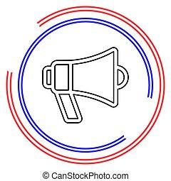 megafone, vetorial, alto-falante, ícone