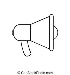 megafoon, pictogram, bevordering