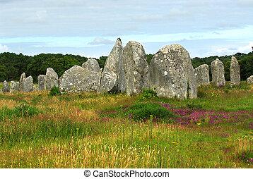 megalítico, bretaña, monumentos