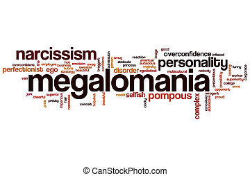 Megalomania word cloud