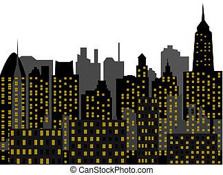 megalopolis - city - vector
