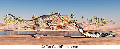 Megalosaurus and Titanoboa