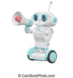 megaphon, roboter