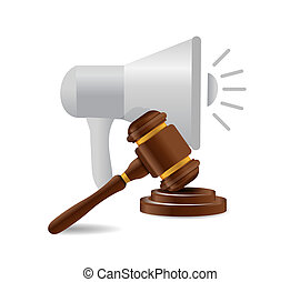 megaphone and law news illustration design graphic isolated...