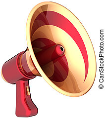 Megaphone announcement news - Megaphone news communication...