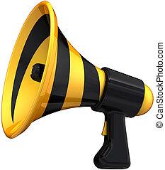 Megaphone announcement symbol