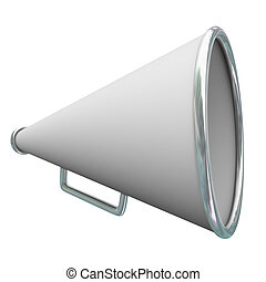 Megaphone Bullhorn 3d Communication Share Information Message Announcement