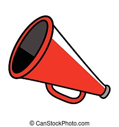 Cartoon illustration of a megaphone