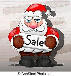 megaphone., claus, venda, santa, natal