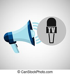 megaphone concept microphone news design