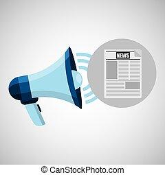 megaphone concept news design