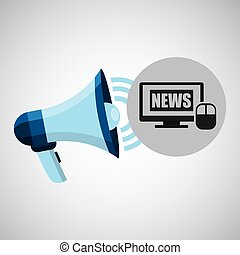 megaphone concept news digital internet design